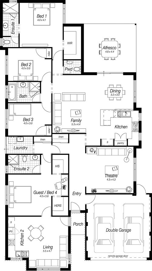 Floor Plans Designs For Homes | The Lewes | Complete Homes