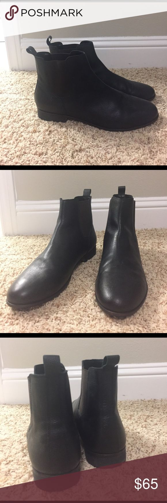 Black leather Chelsea Boot Hawking McGill Black leather Chelsea Boot from Urban Outfitters, hardly worn Urban Outfitters Shoes Boots