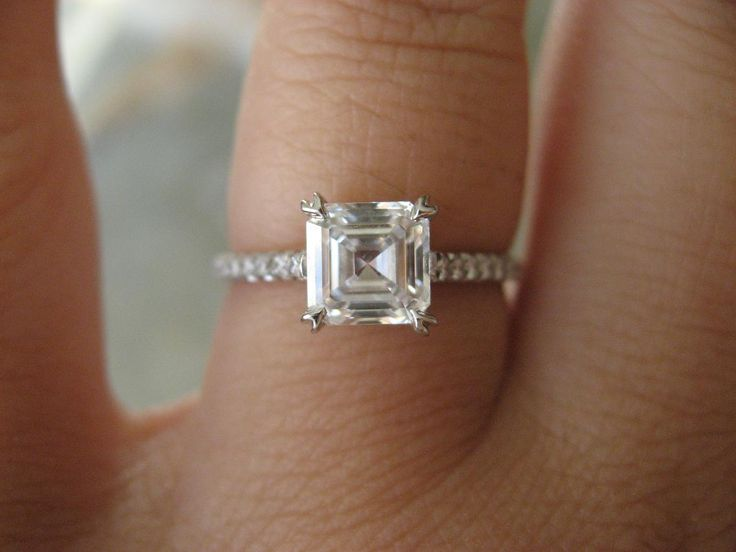 39 best Asscher images on Pinterest Diamonds Rings and Show me