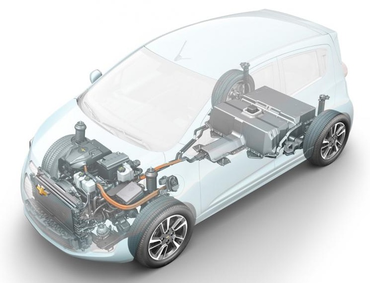 Thanks to a cost-sharing project with the Energy Department, General Motors has been able to develop the capacity to build electric and hybrid motors internally. That capacity has made cars like the upcoming Chevy Spark EV (above) possible.     Image courtesy of General Motors.