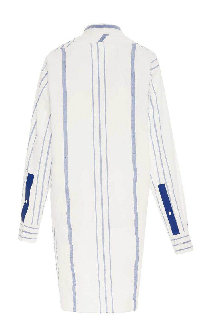 Striped Cotton and Linen-Blend Tunic by LOEWE Now Available on Moda Operandi