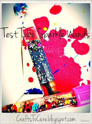 Crafts to Cure: Test Tube Sparkle Wands