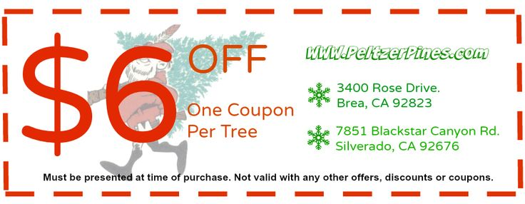 Discount coupons for cedar tree farm