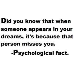 Interesting. I often dream of the people that have passed away.