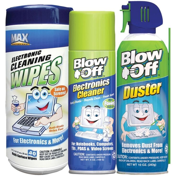 Electronics Cleaner Kit Computer Screen Wipes 3 Pc Set Dust Remover Surface Tv #BLOWOFF