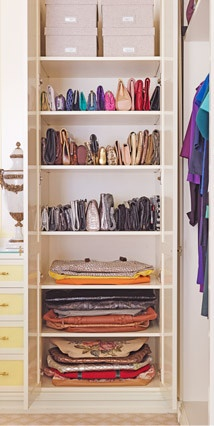Putting Shelves To Work And Laying Bags Flat When Needed ~ Handbag Storage  Demystified  Image Via O Magazine
