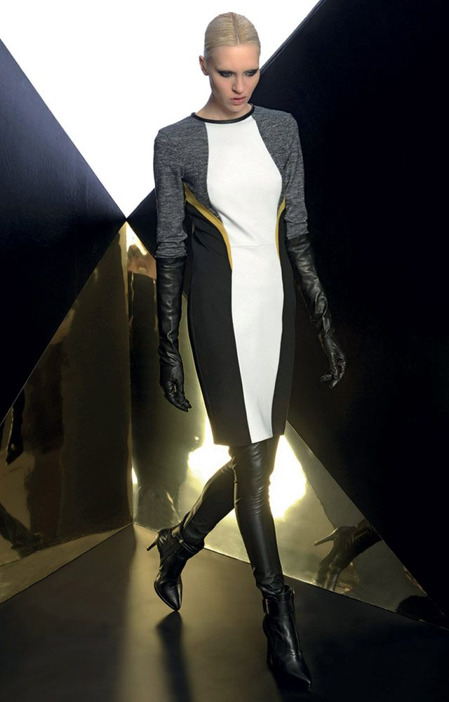 Look 09 _ 300 Dress . 435 Leggings . 209P Leather Gloves . 287P Ankle Boots