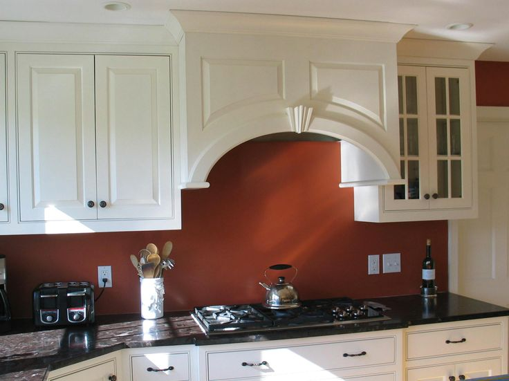 Custom Made By: Www.TaylorMadeCabinets.NET Favorite Hood; Curved Panels  With Keystone