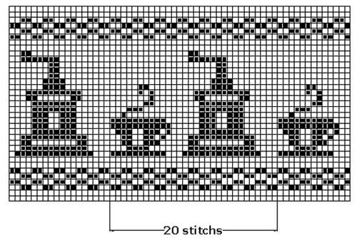 Free Filet Crochet Graph Patterns   Pattern 4. To make swatch: Multiple of 12 stitches Click for chart ...