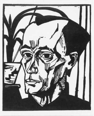 Erich Heckel, woodcut