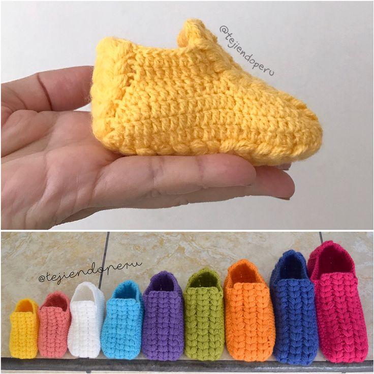 Crochet: zapatos o pantuflas con trenzas gorditas paso a paso en 9 tallas! Video tutorial ;)  Descubre más de los bebes en somosmamas.