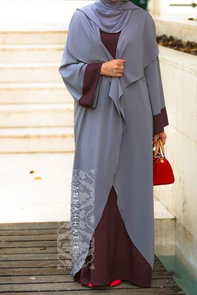 one piece abaya dress www.annahariri.com color abaya, dubai style abaya