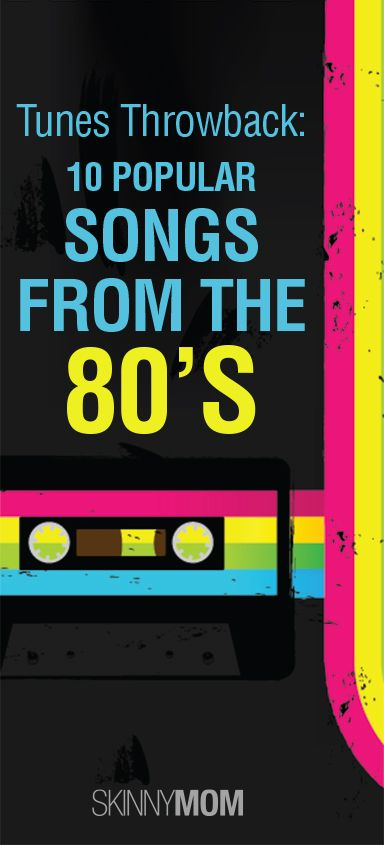 Tunes Throwback: 10 Popular Songs from the 80's! Love this roundup!!! These songs give me a great workout!