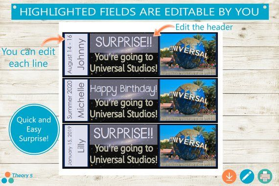Pin By Amy Comer On Me Go Yes Universal Studios Universal Studios Tickets Surprise Trip Reveal