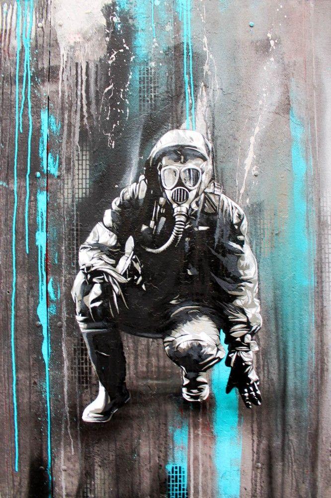 A few new works of Berlin based Street Artist Plotbot KEN can be found at Stattbad Wedding.  Street Artist Plotbot KEN became known for his high quallity multi layer stencils in Berlin.  Also check out:  StreetArtBLN.com  or:  de-de.facebook.com/plotbot