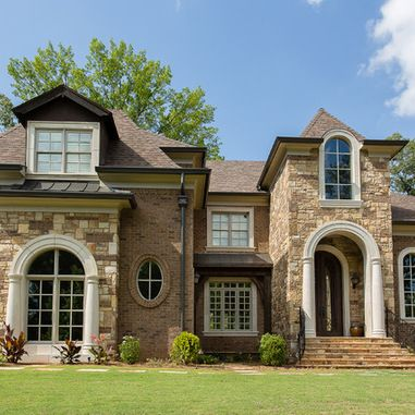 Best Front Landscaping Ideas Images On Pinterest Traditional - Exterior ideas for brick homes