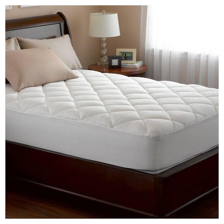 spring air illuna ultra plush comfort mattress pad white queen