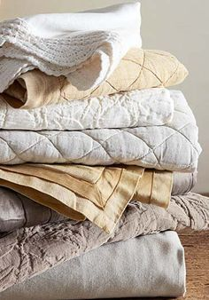 Create an irresistible retreat with Rustic Luxe bedding. #potterybarn