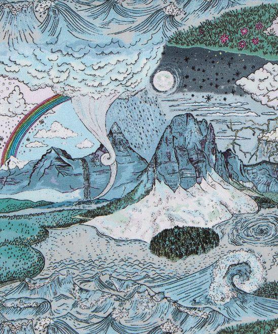 Liberty Art Fabrics Weather Wonderland C Tana Lawn Cotton