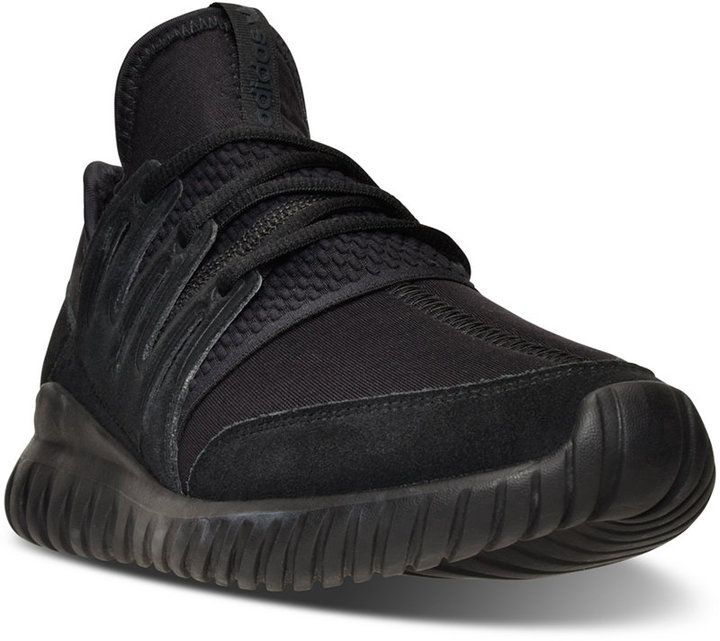adidas Men\u0027s Originals Tubular Radial Mono Casual Sneakers from Finish Line  - Finish Line Athletic Shoes - Men - Macy\u0027s