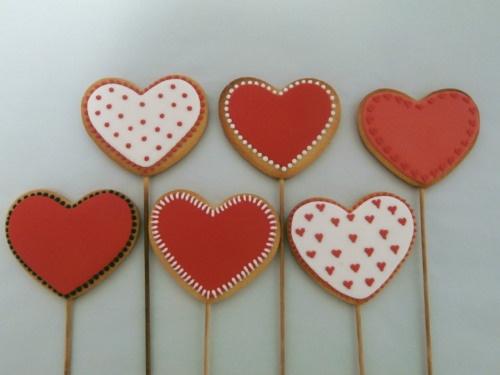 Galletas de corazones pack 6 unidades