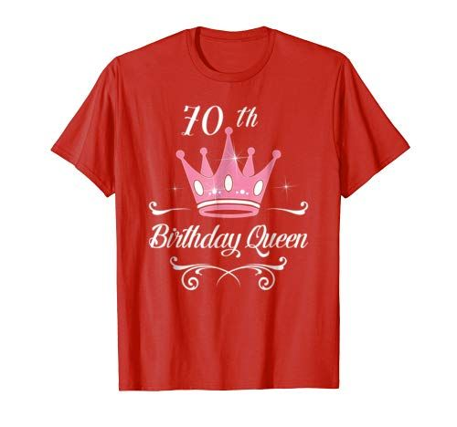 Birthday Queen Awesome Gift T Shirt Girls Women 70th Ladies Gifts 70 Years