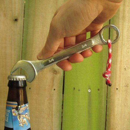 DIY Idea: Make a Wrench Bottle Opener. I bought these for my groomsman last year, but wouldn't mind being able to make one.