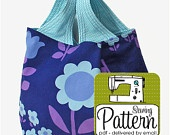Grocery Bag Sewing Pattern - PDF (Email Delivery)  - 3 Sizes. $6.50, via Etsy.