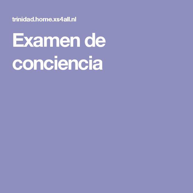 Examen de conciencia