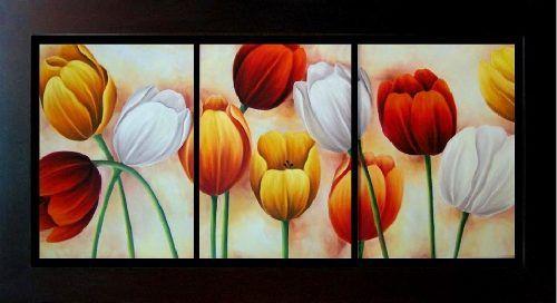 cuadros con tulipanes en relieve en madera - Buscar con Google