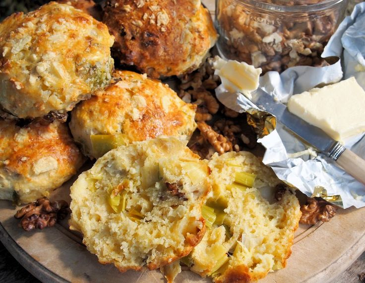 Scones - Wensleydale Cheese, Leek & Walnut Scones for Tea Time Treats