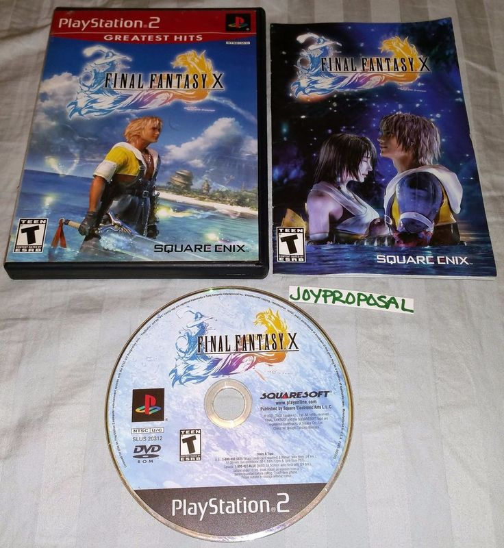 PlayStation 2 Final Fantasy X Role Playing RPG Fight Battle Real Time Strategy