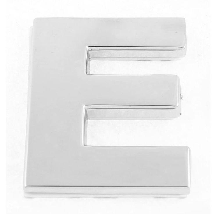 Unique Bargains Self Adhesive Stickers Car Auto 3D Emblem Badge Decal Letter Chrome (Grey) Symbol E