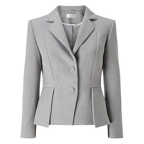Buy Precis Petite Eliza Tailored Jacket, Light Grey Online at johnlewis.com