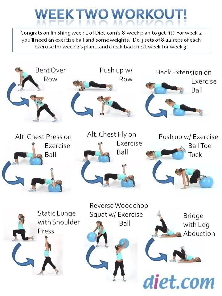Week 2's Workout Plan for the 8 Week Fitness Challenge!