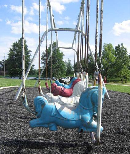 Old Horse Swings At The Park From Back In The Day I