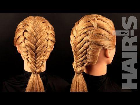 Учимся плести французские косы с колоском - видеоурок (мастер-класс) Hair's How - YouTube
