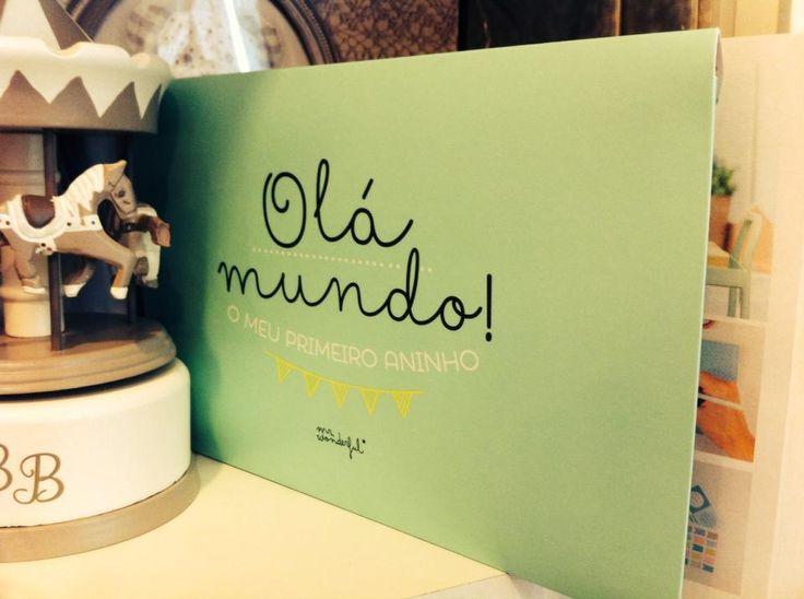 Hello World in Portuguese Photo album Baby 1st Year!