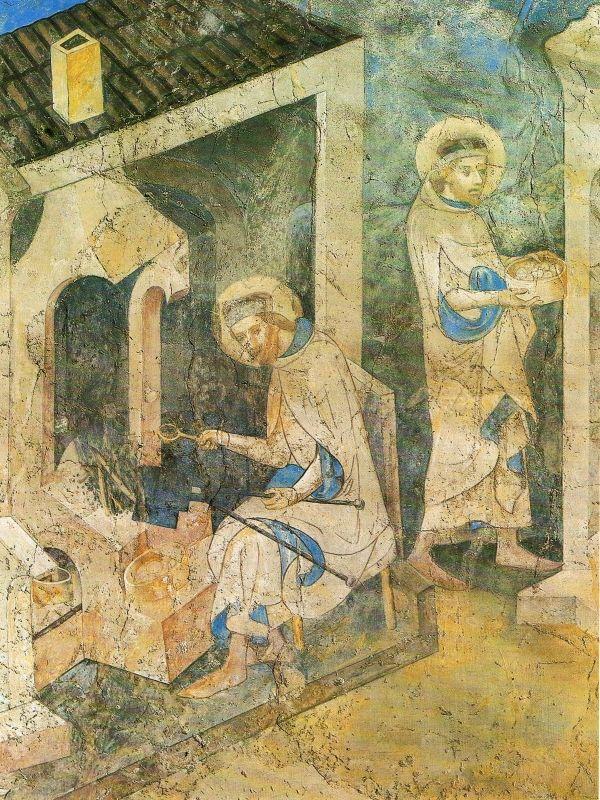 Svatý Václav peče hostie (1360-1361)