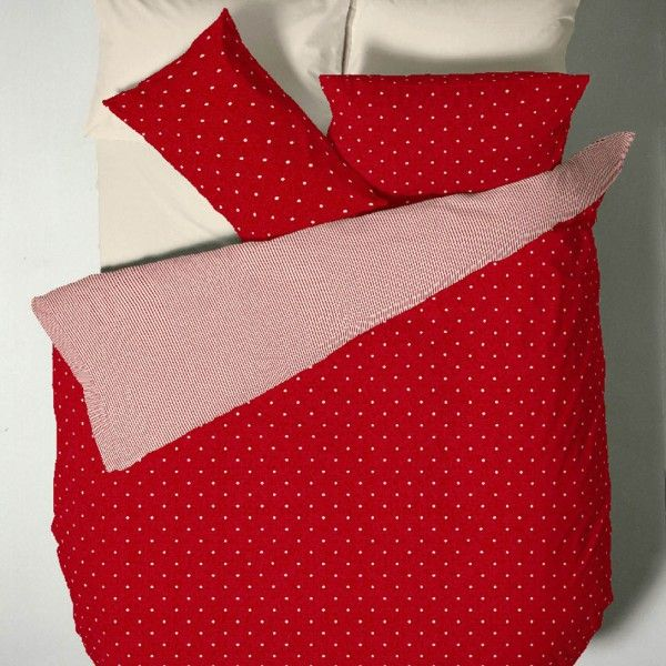 Red polka dot reversible bedding for both boys and girls Childrens duvet covers are great ideas for kids bedrooms. Catherine Lansfield bedding.