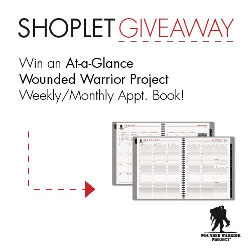 Untitled2 Win an AT A GLANCE Wounded Warrior Project Appointment Book!At A Gl Wounds, Shoplet Giveaways, Sweepstakes Contest, Appointment Book, Wounds Warriors Projects, Classroom Ideas, Untitled2 Win, Projects Appointment, Glance Wounds