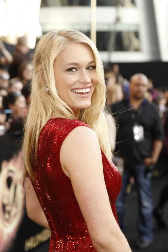 "Leven Rambin (Glimmer) looks absolutely lovely. ""The Hunger Games"" movie premiere, Nokia Theatre, Los Angeles, CA."