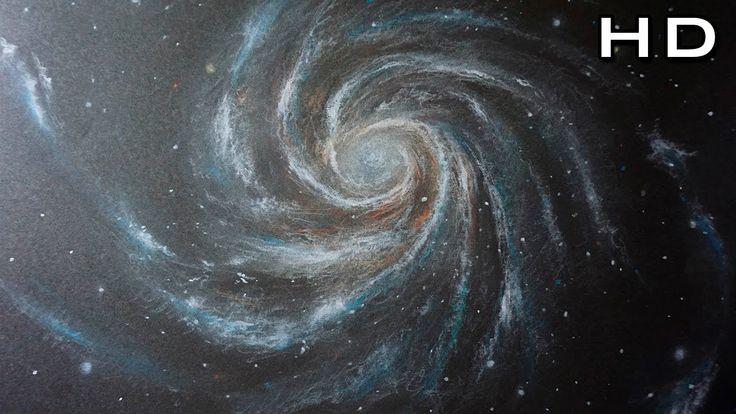 Como Dibujar Una Galaxia Y Estrellas Con Lapices Pastel Paso A Paso Dibujos De Colores Como Dibujar Galaxia