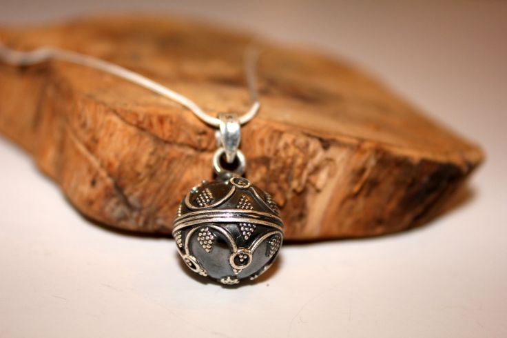 silver bell pendant by EastOfEdan on Etsy