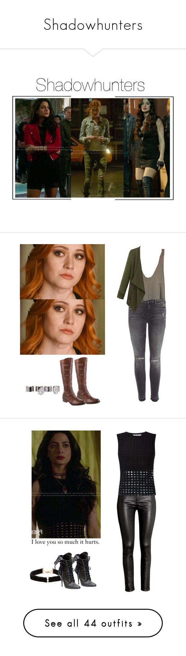 """""""Shadowhunters"""" by shadyannon ❤ liked on Polyvore featuring Matisse, Mother, Maison Margiela, H&M, T By Alexander Wang, Anissa Kermiche, BasicGrey, Yves Saint Laurent, MANGO and AllSaints"""