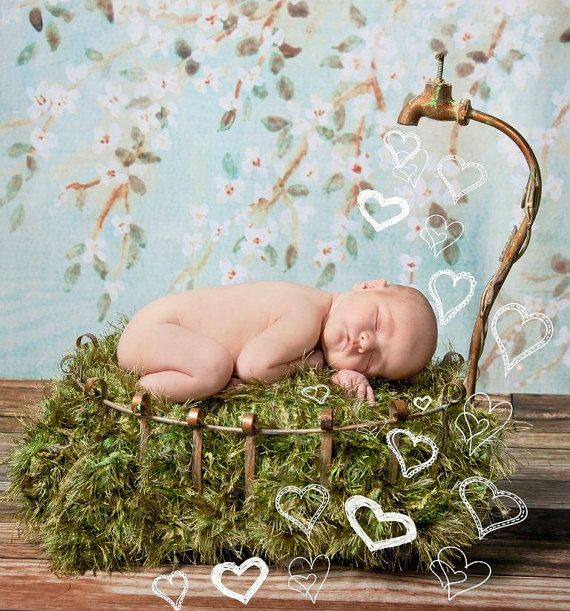 It's *amazing* what will grow with just a little water!  ;)  Photo Prop 'Grass' Patch Baby Blanket  by BabyBirdz, $65.00