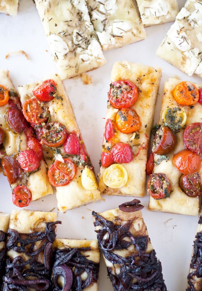 The search is over—we've discovered the perfect recipe for entertaining and it may be the most delicious thing we've ever seen! Jessica of A Happy Food Dance's recipe for homemade focaccia bakes three toppings, sauteed balsamic onions, heirloom tomatoes with garlic and basil and three cheese rosemary, right into the dough for incredible flavors. We'd […]