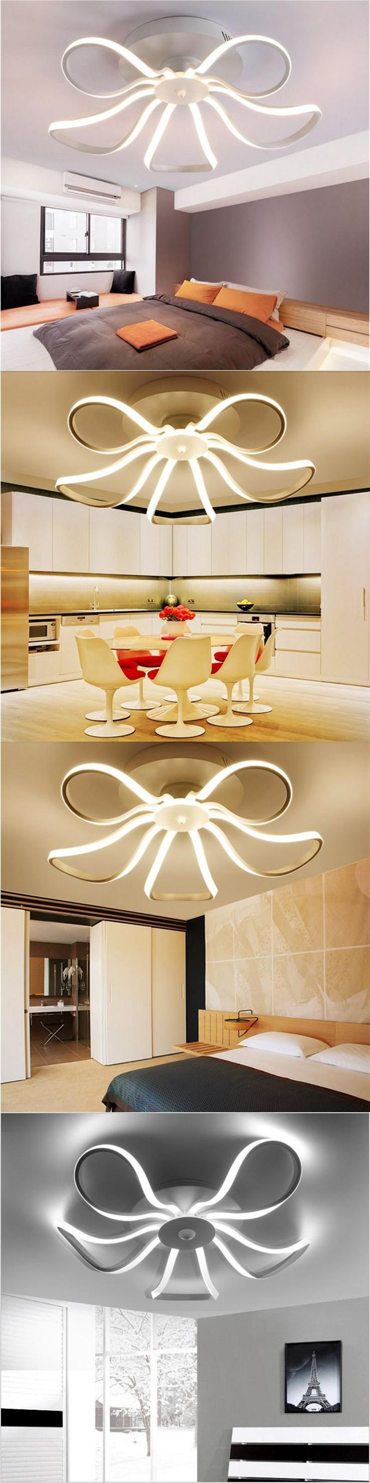 Distorted Rings Modern LED Ceiling Lights Remote Control Ceiling Lamp Fixtures Living Room Bedroom Lustre Lamparas De Techo