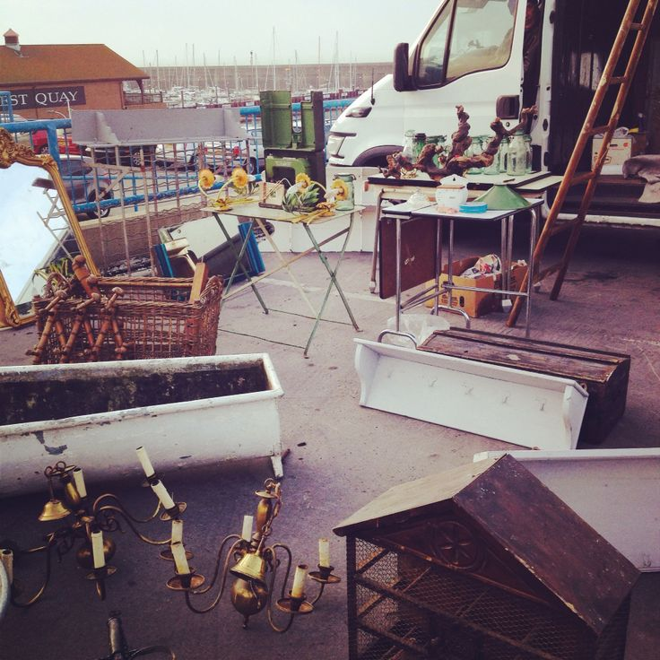 Brighton carboot. Best carboot ever. Sunday mornings, top level of multi storey carpark at Brighton Marina.