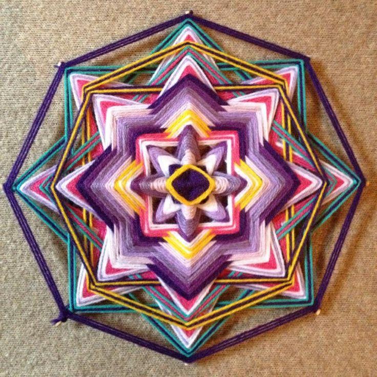My second 8 pointed yarn mandala